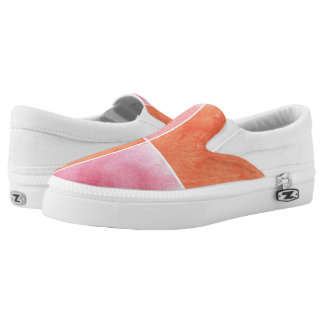 colorful watercolor Slip-On shoes