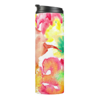 Colorful Watercolor Splash Thermal Tumbler