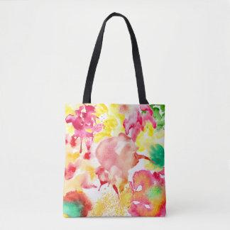 Colorful Watercolor Splash Tote Bag