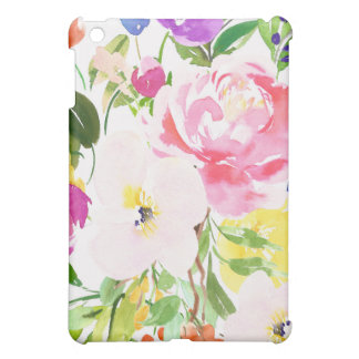 Colorful Watercolor Spring Blooms Floral Cover For The iPad Mini