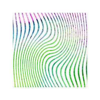 Colorful watercolor stripe swirl canvas print