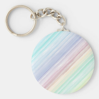 Colorful watercolor stripes pattern illustration basic round button key ring
