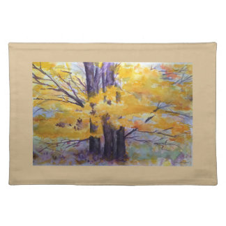 Colorful Watercolor Trees Art Placemat