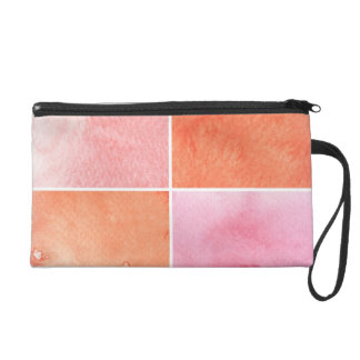 colorful watercolor wristlet