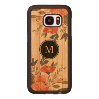 Colorful Watercolors Flowers Bouquet Illustration Wood Samsung Galaxy S7 Case
