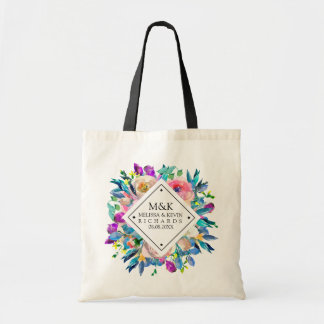 Colorful Watercolors Flowers Bouquet Tote Bag