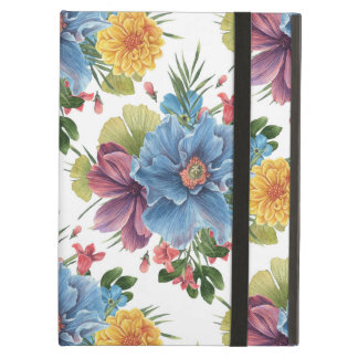 Colorful Watercolors Flowers Seamless Pattern Cover For iPad Air