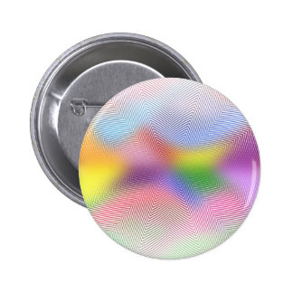 Colorful Waves: 6 Cm Round Badge