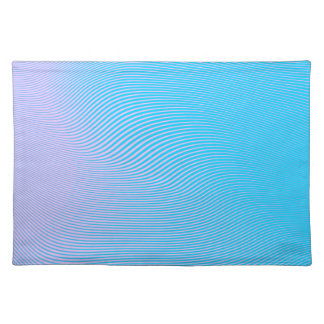 Colorful Waves And Lines Placemats