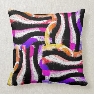 Colorful Waves Cushion