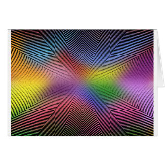 Colorful Waves: Greeting Card
