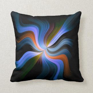Colorful Waves Light Rays Art Design Throw Cushions