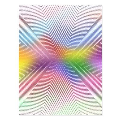 Colorful Waves: Postcard
