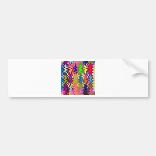 COLORFUL Waves : Signature Style Art NAVIN JOSHI Bumper Sticker