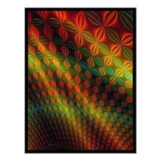 Colorful Waving Surface Design Print
