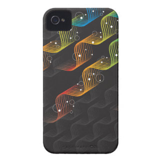 Colorful Wavy Abstract Twist iPhone 4 CaseMate iPhone 4 Covers