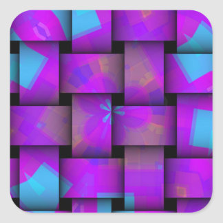 Colorful Weave pattern Sticker