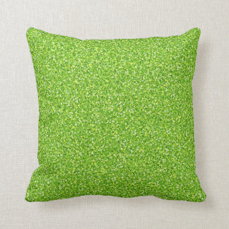 Colorful Wedding Anniversary Light Green Glitter Throw Cushions