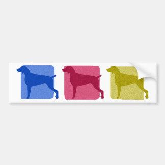 Colorful Weimaraner Silhouettes Bumper Sticker