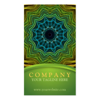 Colorful Well Mandala Business Cards