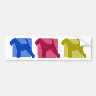 Colorful Welsh Terrier Silhouettes Bumper Sticker