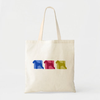 Colorful Welsh Terrier Silhouettes Tote Bag