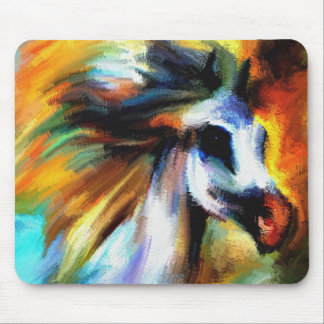 Colorful Western Performance Horse Mouse Pad
