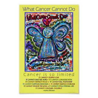 Colorful What Cancer Cannot Do Angel Poster Print