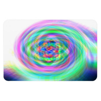 Colorful whirlpool rectangular photo magnet