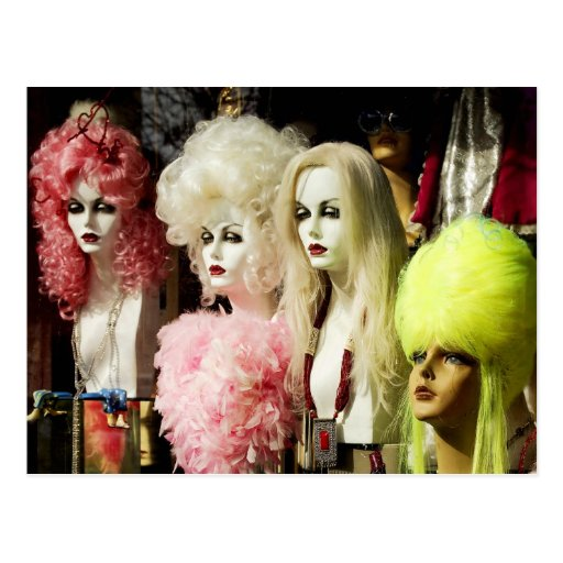 Colorful Wigs Post Cards