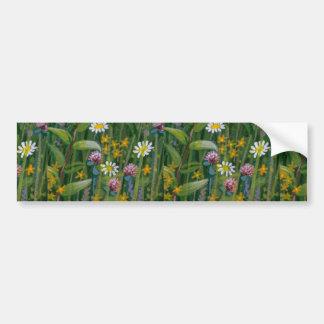 Colorful Wildflowers Bumper Sticker