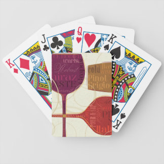 Colorful Wine Bicycle Playing Cards