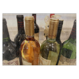 Colorful Wine Bottles Cutting Board