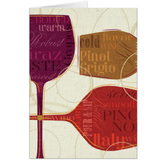 Colorful Wine Card
