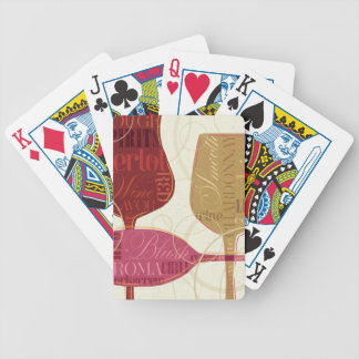 Colorful Wine Glasses Bicycle Playing Cards