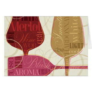 Colorful Wine Glasses Card