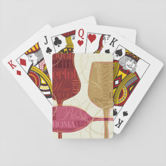 Colorful Wine Glasses Playing Cards