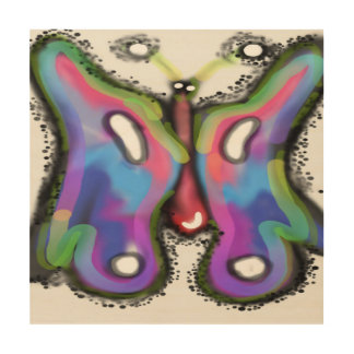 "COlorful wings!! 12""x12"" Wood Wall Art"