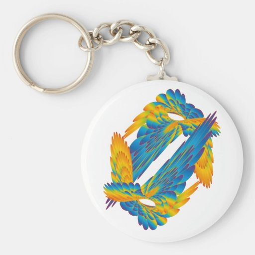 Colorful wings key chain