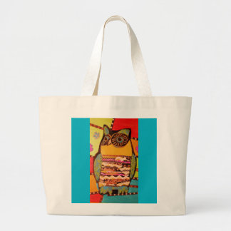 Colorful Wise Owl Jumbo Tote Bag