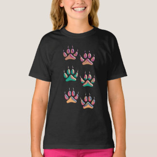 Colorful Wolf Print T-Shirt