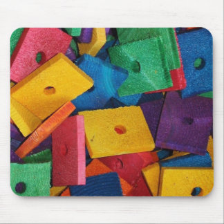 Colorful Wood Blocks Mosaic design Mouse Pad