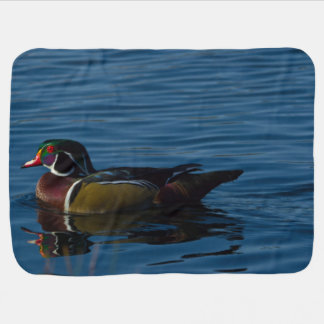 Colorful wood duck baby blanket
