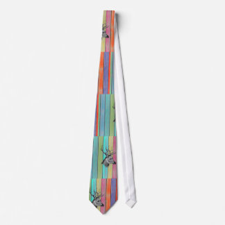 Colorful Wood Vintage Deer Head Tie