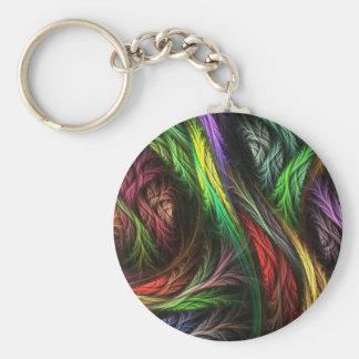 Colorful Wool-Effect Pattern Key Ring