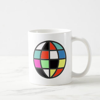 colorful world globe coffee mug