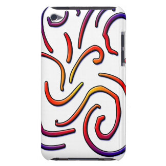 Colorful worm lines iPod Case-Mate case