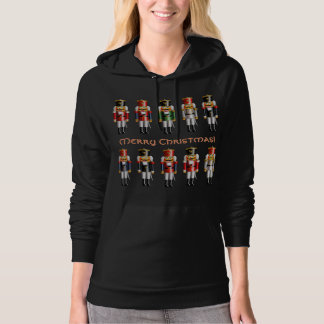 Colorful Xmas Nutcracker Toy Soldiers Hoodie