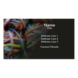 Colorful Yarn Business Card Templates