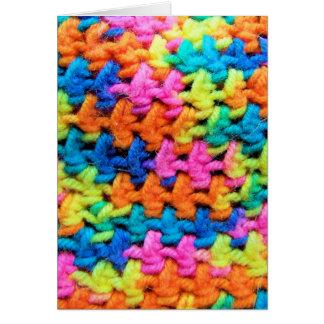 Colorful Yarn Card
